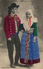 1748 Maries de Plougastel Daoulas French France Folklore Costume Vintage Card