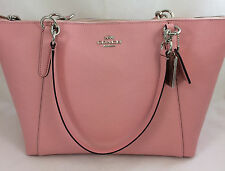 New COACH F57526 AVA Leather Tote Handbag Purse Shoulder Bag Blush Pink