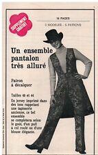 ▬► PATRON Écho de la Mode - Ensemble pantalon  T40 à 44 - 52-53 de 1971