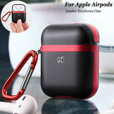 Genuine Leather Case Cover Protective Skin Earphones Charging Case For AirPods