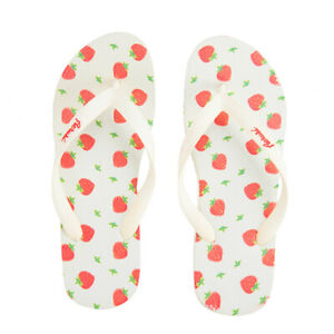 Aerusi Kids Boys Girls Strawberry Print Thong Flip Flops Summer Sandals Slippers