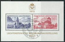 Liechtenstein - Briefmarkenausstellung LIBA gestempelt 1972 Block 9 Mi. 565-566
