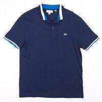 Vintage LACOSTE  Blue Classic Short Sleeve Polo Shirt Mens XL