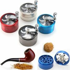55mm 4 layer Zinc Alloy Hand Crank Herb Mill Crusher Tobacco Smoke Grinder FO