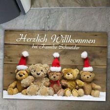 Fußmatte zur Weihnachtszeit mit Weihnachtsteddys Weihnachten Winter Winterzeit