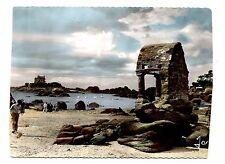 Ploumanac'h France Postcard RPPC Village Port Harbor L'oratoire de St Guirec