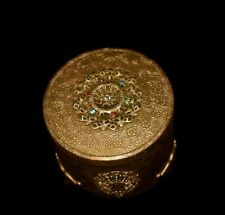New ListingStunning! Antique *Jeweled Ormolu* Brass *Powder Box /Music Box* by Thorens