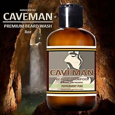 Handcrafted Caveman® Beard Wash Shampoo (Peppermint Pine) 8oz