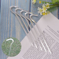 5 Pcs Alloy Tent Stakes Pegs Heavy Duty Nail Head 7.01Inch Solid Steel Me Nk