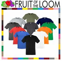 Fruit Of The Loom MEN'S T-SHIRT FITTED GYM SPORT SLIM FIT PLAIN COTTON TEE S-3XL