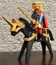 Vintage Playmobil 3345 Prince Sword Horse Unicorn Saddle Figure Geobra 1974 1993