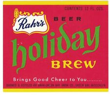 Rahr's Holiday Brew Beer Label