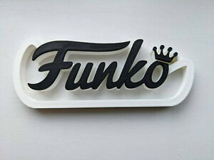 "Decorative ""floating"" FUNKO POP self standing logo display"