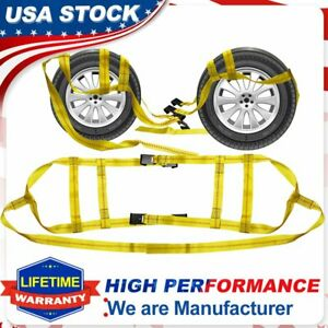 """2x Extra Large Vehicle Basket Straps Car Hauler Truck Tow Dolly Tie Down 17""""-21"""""""