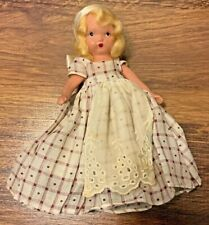 Vintage Nancy Ann Storybook Doll - Doll of the Week / Window Pane Checked Dress