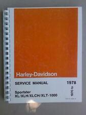 1970-1978 Harley Davidson Sportster XL XLH Xlch-1000 Service Manual