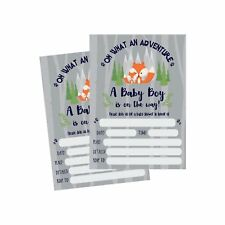 50 Fill in Fox Baby Shower Invitations, Baby Shower Invitations Woodland, Cus...