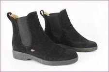 Boots Booties LACOSTE Black Suede UK 4,5 / FR 37,5 VERY GOOD CONDITION
