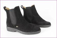 Bottines Boots LACOSTE Daim Noir  UK 4,5 / FR 37,5 TBE