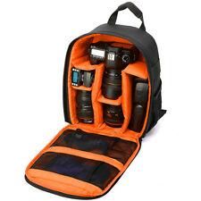 NUEVO Dual Cremallera Mochila Hombro Bolsa para DSLR SLR Canon Nikon Cámara