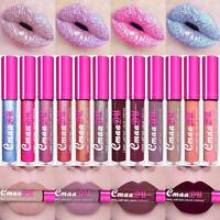 CmaaDu Metallic Matte/Glitter Waterproof Lasting Liquid Lipstick Lip Gloss 2018