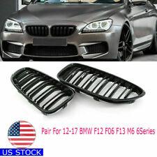Fit  BMW F06/F12/F13 640i 650i 2Dr/4Dr Gloss Black Front Kidney Grille Set 12-17