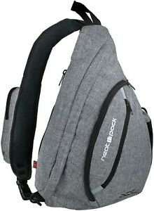 Versatile Canvas Sling Bag/Urban Travel Backpack, Grey | Wear Over Shoulder