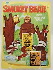 V/G Unused 1970 Whitman Smokey the Bear Press Out Book