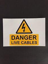 152mmx229mm danger Live Câbles signe (TNA9YBA)
