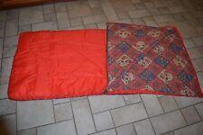 Vintage Ladies Women's COLEMAN Fruit Grains Flowers Print RED Sleeping Bag 32X72