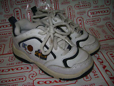 STRIDE RITE HOT SHOT TODDLER BOYS SHOES SNEAKERS size 8.5 M WHITE BLUE CUTE