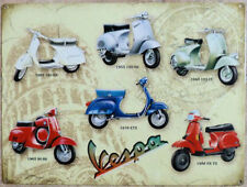 Vespa, Scooter, Calssic Italian Vespa Collection Large Metal/Tin Sign, Picture