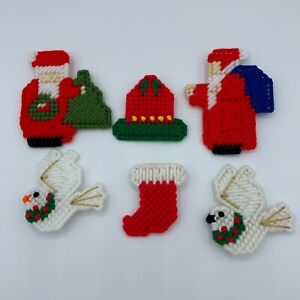 Christmas Pins Lot #4 - Old Fashioned Santa Claus Dove Bell Stocking
