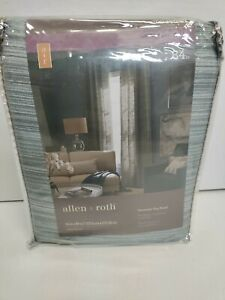 """Allen & Roth Grommet Top Panel Teal Window Curtains 54""""x84 NEW!"""