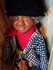 """Brunswood Dolls 25"""" named Isaac made of Cherry w OutHouse"""