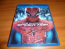 The Amazing Spider-Man (Blu-ray/DVD, 2012, 3-Disc) Used Andrew Garfield