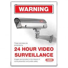 Large ABUS CCTV Warning Sticker. Alarm-FREE POSTAGE (TVSIGN02)