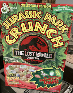 Jurrasic Park Crunch Cereal Box 1997