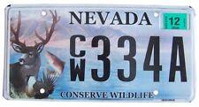 Véritable Plaque D' Immatriculation Etat du Nevada - USA - License Plate