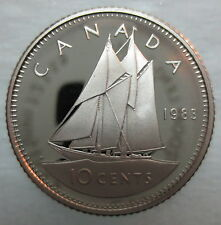 1983 CANADA 10 CENTS PROOF DIME HEAVY CAMEO COIN