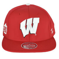 NCAA Zephyr Wisconsin Badgers Red Flex Fit Stretch Large X-Large L/XL Hat Cap