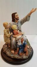 "Homco Masterpiece Porcelain, Jesus & The Children, ""Come Unto Me"" Rr1989"