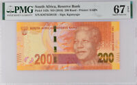 South Africa 200 Rands ND 2016 P 142 B Superb Gem UNC PMG 67 EPQ High