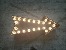 """Lighted Black Plastic Marquee Arrow Sign 11"""" Long 21 Lights"""