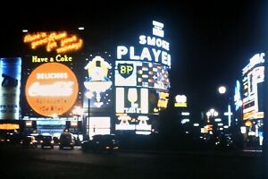 35mm Kodachrome Slide, Piccadilly Circus At Night, Neon Signs, 1960s