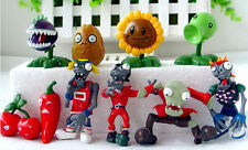"Plants VS Zombies Birthday Cake Topper (Set Of 10pc) 1"" - 3"" Tall"