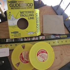 Vintage Gudebrod Lead core fishing line 2 spools of 100 yd 27lb test (Lt#10013)