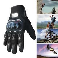 Carbon Fiber Pro-Biker Bike Motorcycle Motorbike Race Sport Racing Gloves L/XL