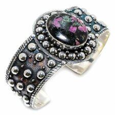 Eudialyte Gemstone Handmade 925 Sterling Silver Cuff Bracelet Adjustable
