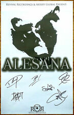 ALESANA Confessions Decade 2015 Ltd Ed RARE Hand Signed By All 6 Members Poster